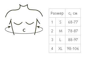 определение размера корректора осанки